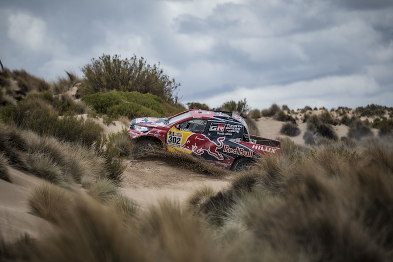 Giniel De Villiers (ZAF) of Toyota Gazoo Racing SA races during stage 07 of Rally Dakar 2017 from La Paz to Uyuni, Bolivia on January 09, 2017