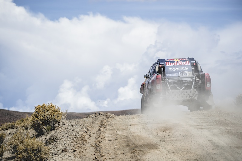 Giniel de Villiers (ZAF) of Toyota Gazoo Racing SA races during stage 4 of Rally Dakar 2017 from San Salvador de Jujuy, Argentina to Tupiza, Bolivia on January 5, 2017.