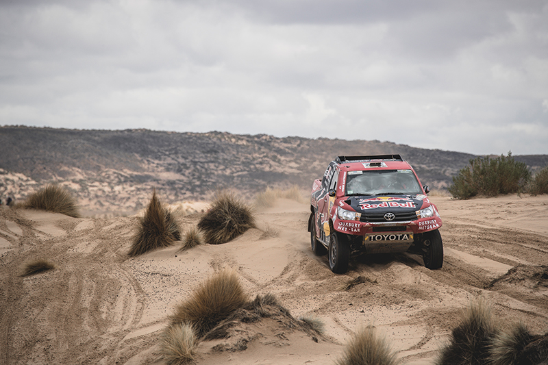 Giniel de Villiers (ZAF) of Toyota Gazoo Racing SA races during stage 5 of Rally Dakar 2017 from Tupiza to Oruro, Bolivia on January 6, 2017. // Flavien Duhamel/Red Bull Content Pool // P-20170109-01507 // Usage for editorial use only // Please go to www.redbullcontentpool.com for further information. //
